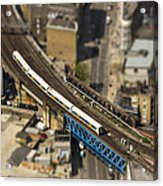 Train In London Acrylic Print
