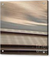 Train In Motion - On The Way To San Diego Acrylic Print