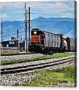 Train In The Mile High Acrylic Print