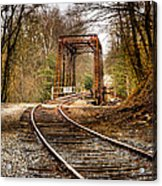 Train Memories Acrylic Print by Debra and Dave Vanderlaan