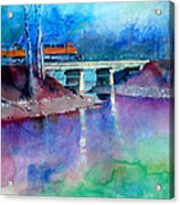 Train Over Sand Creek Acrylic Print