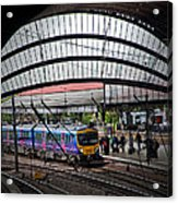 Train Pulling In Acrylic Print