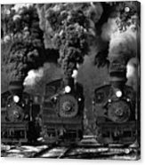 Train Race In Bw Acrylic Print