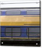 Train Rages Over The Railway Bridge On The Estate Mariendaal In Arnhem Netherlands Acrylic Print