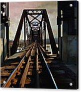 Train Rail Bridge  Acrylic Print
