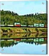 Train Reflecting Acrylic Print