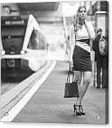 Train Station - Waiting Acrylic Print