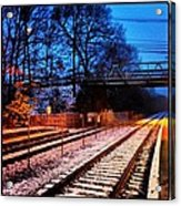 Train Station First Snow Acrylic Print