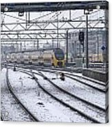 Train Station Zwolle In Winter Netherlands Acrylic Print