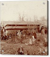 Train Wreck, 1890s Acrylic Print