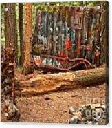 Train Wreck Along The Cheakamus River Acrylic Print