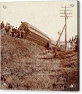 Train Wreck, C1900 Acrylic Print