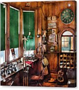 Train - Yard - The Stationmasters Office  Acrylic Print