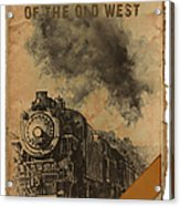 Trains Of The Old West Acrylic Print