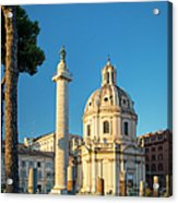 Trajans Column - Rome Acrylic Print