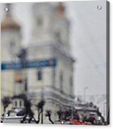 Tram On The  Street 1 Acrylic Print