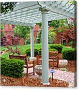 Tranquil Courtyard Acrylic Print