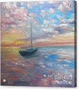 Tranquil Ocean Sunset Acrylic Print