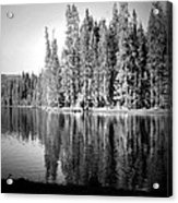 Tranquil Reflection In B And W Acrylic Print