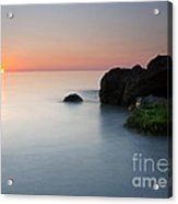 Tranquil Sunset Acrylic Print by Mike  Dawson