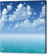 Tranquil Turquoise Ocean Acrylic Print