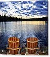 Tranquility At Sunset Acrylic Print by Elena Elisseeva