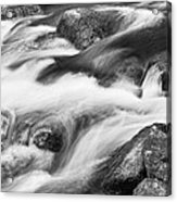 Tranquility In Black And White Acrylic Print