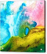 Transformation - Abstract Art By Sharon Cummings Acrylic Print by Sharon Cummings