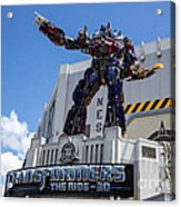 Transformers The Ride 3d Universal Studios Acrylic Print