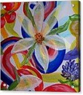 Translucent Flowers Acrylic Print