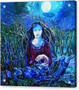 Eostra Holds The Moon Acrylic Print