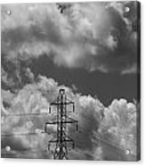 Transmission Tower In Storm Acrylic Print