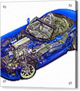 Transparent Car Concept Made In 3d Graphics 1 Acrylic Print