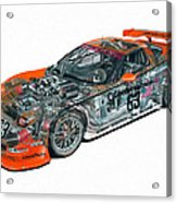 Transparent Car Concept Made In 3d Graphics 10  Acrylic Print