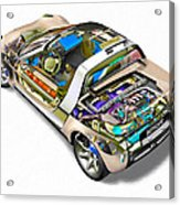 Transparent Car Concept Made In 3d Graphics 2 Acrylic Print