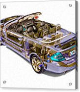 Transparent Car Concept Made In 3d Graphics 6 Acrylic Print