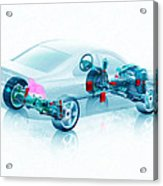 Transparent Car Concept Made In 3d Graphics 7 Acrylic Print