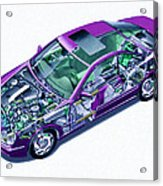 Transparent Car Concept Made In 3d Graphics 8 Acrylic Print