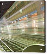 Transparent Trains Acrylic Print