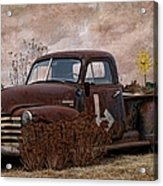 Transportation - Rusted Chevrolet 3100 Pickup Acrylic Print
