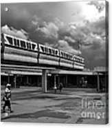 Transportation Station In Black And White Walt Disney World Acrylic Print