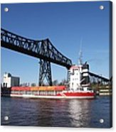 Transporter Bridge Over Canal Rendsburg Acrylic Print