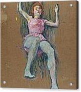 Trapeze Artist At The Medrano Circus Acrylic Print