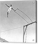 Trapeze Artist On The Swing Acrylic Print