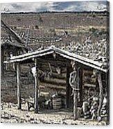 Trapper Dan's Log Cabins Acrylic Print