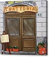 Trattoria Del Vino Buono Acrylic Print