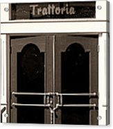 Trattoria Door Palm Springs Acrylic Print
