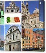 Travel To Venice  Acrylic Print