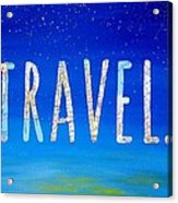 Travel Word Art Acrylic Print