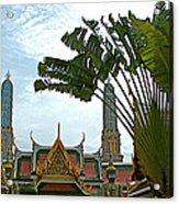 Traveler's Palm At Grand Palace Of Thailand In Bangkok Acrylic Print